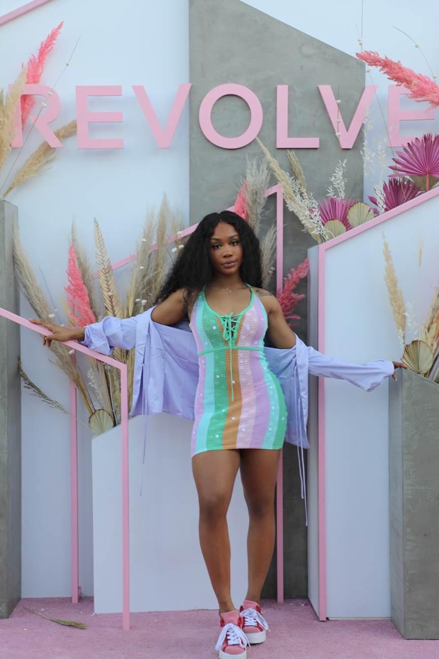 SZA in the Majorelle Freely Dress