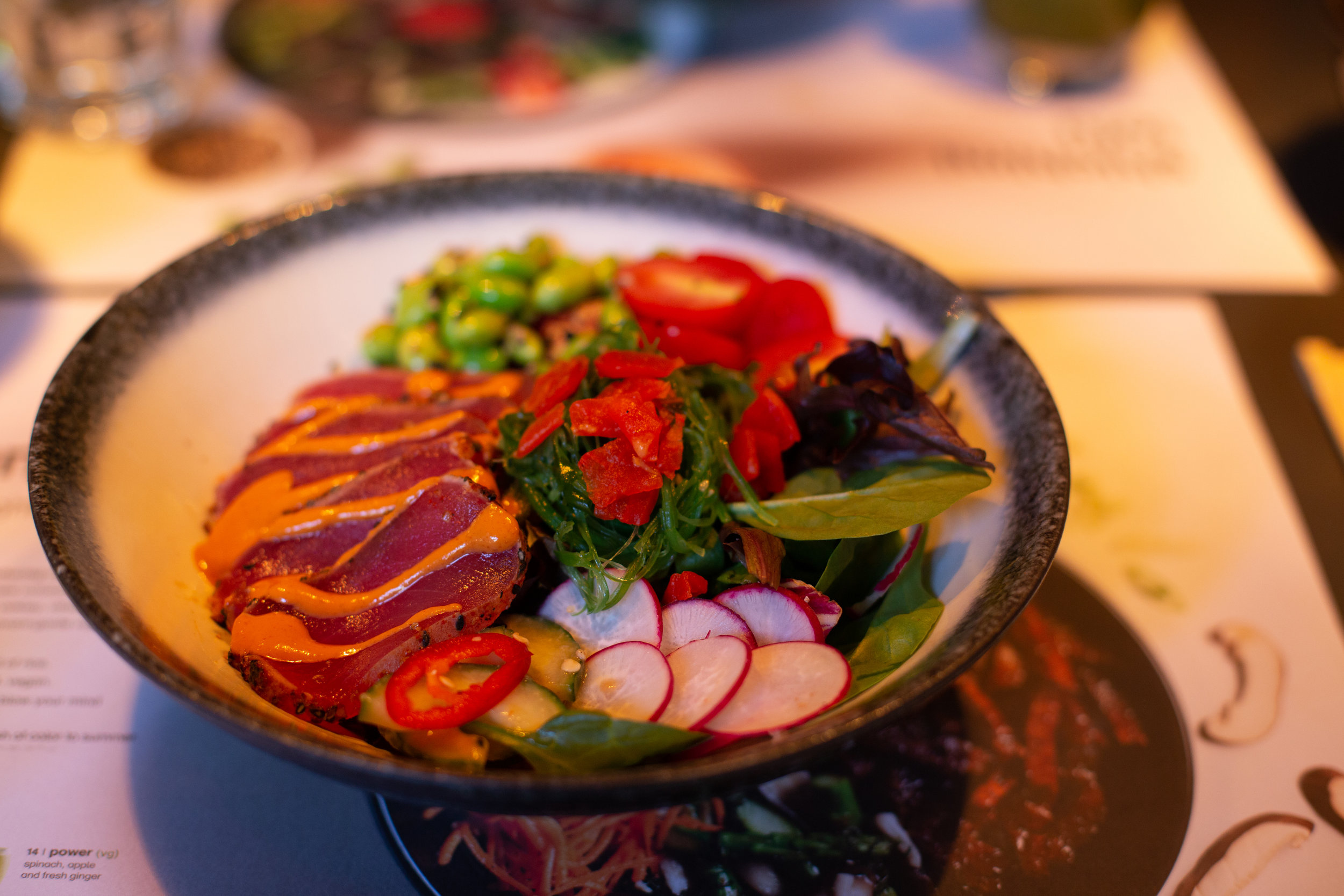 Average Socialite had the pleasure of trying wagamama's nama spicy tuna bowl! |  Photo: Lucas Hoeffel for Average Socialite