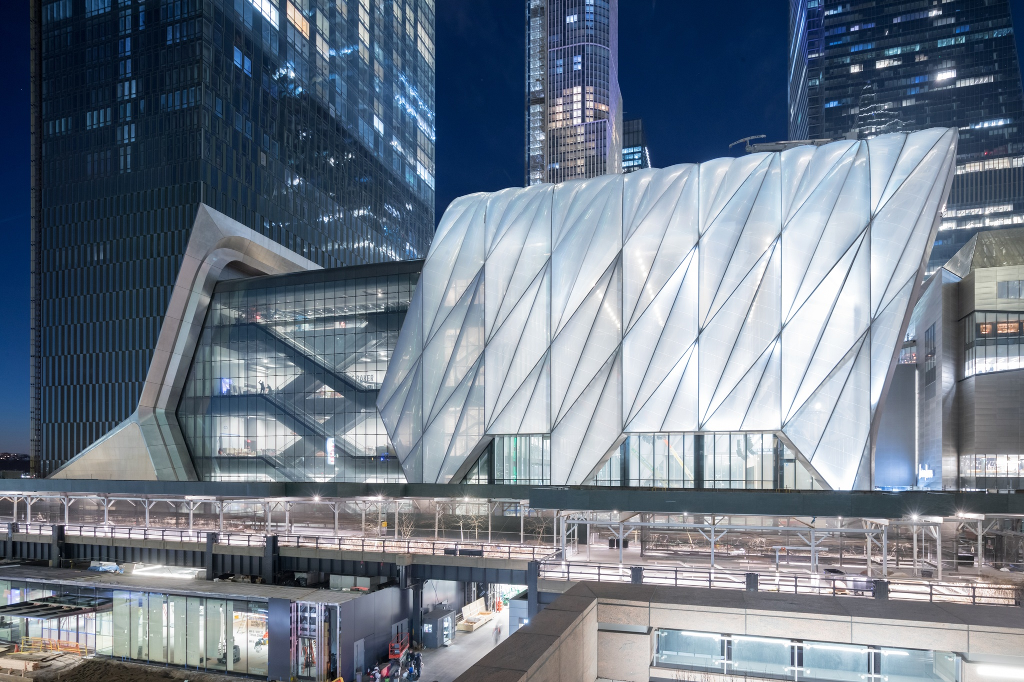 The Shed's Bloomberg Building, April 2019. |  Photo: Iwan Baan. Project Design Credit: Diller Scofidio + Renfro, Lead Architect, and Rockwell Group, Collaborating Architect.