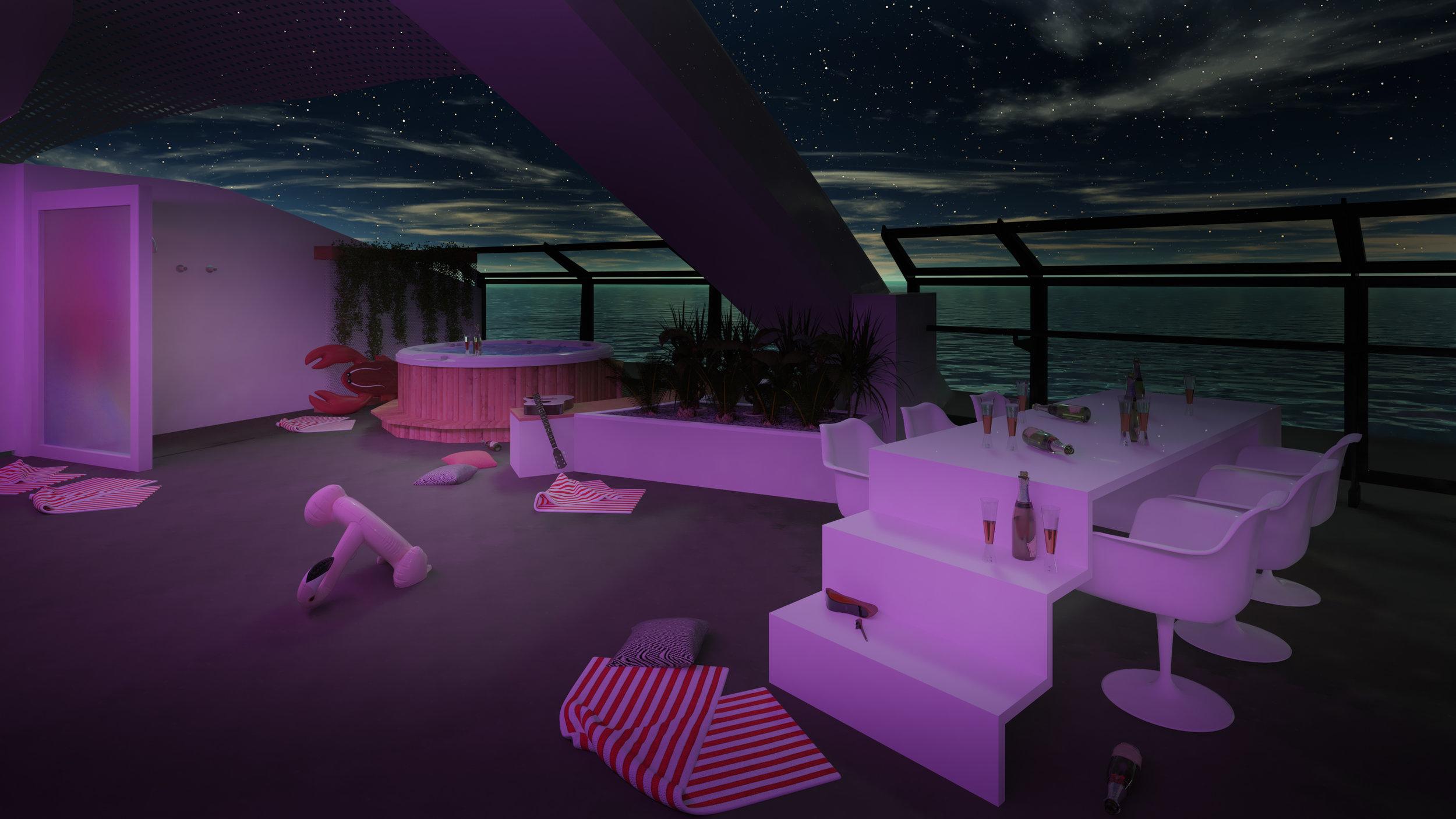 Massive Suite Terrace |  Photo: Courtesy of Virgin Voyages