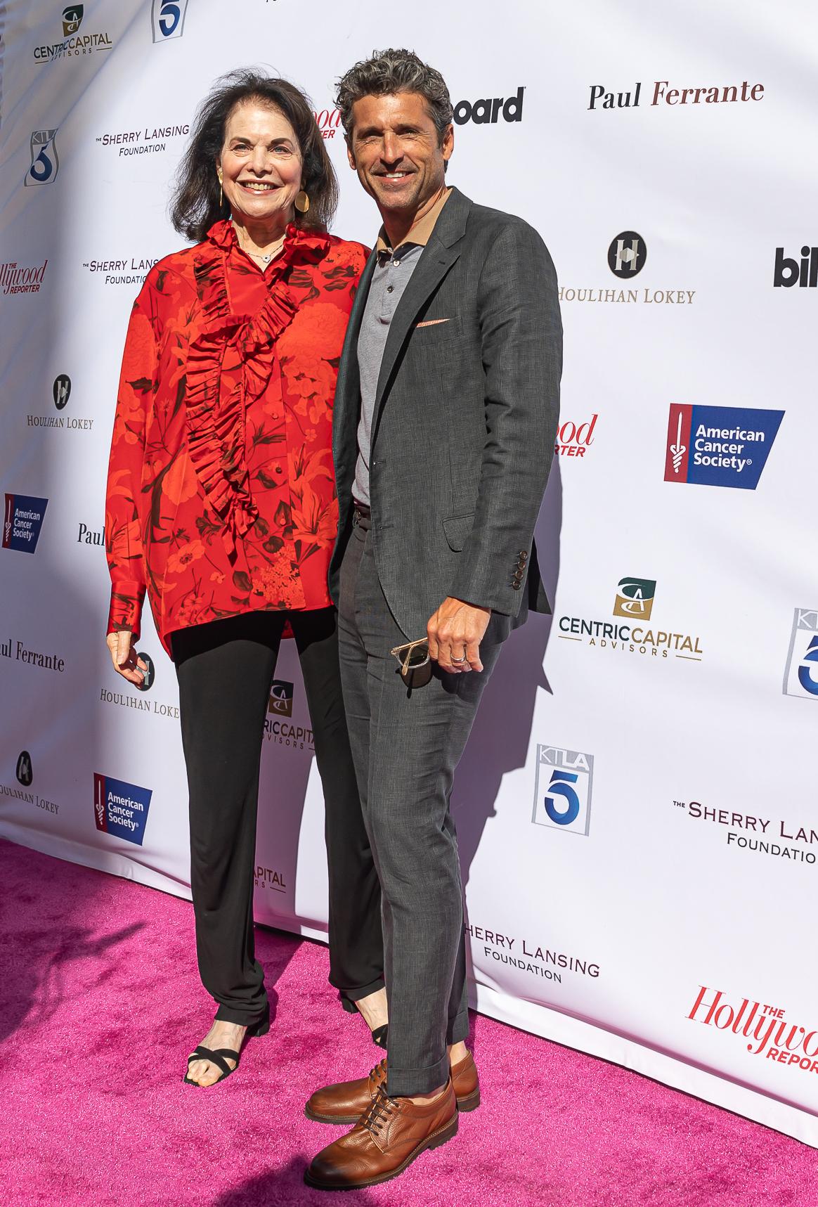 Sherry Lansing and Patrick Dempsey