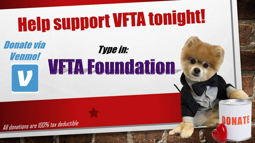 Donate via VENMO: Type in VFTA Foundation