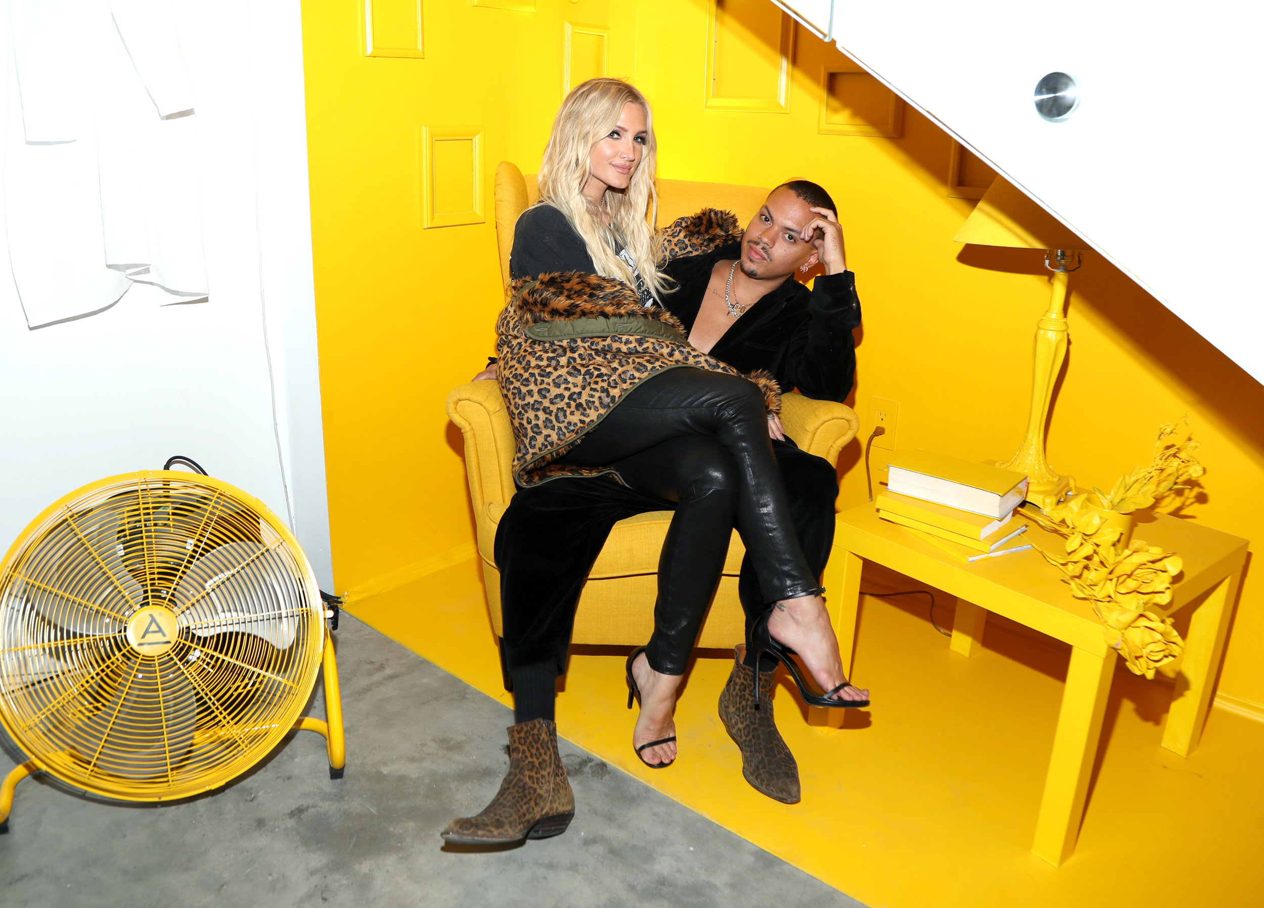 Ashlee Simpson-Ross  and Evan Ross attend the AIRGRAFT 'The Art Of Clean Vapor'  launch with Talent Resources on September 6, 2019 in Los Angeles, California