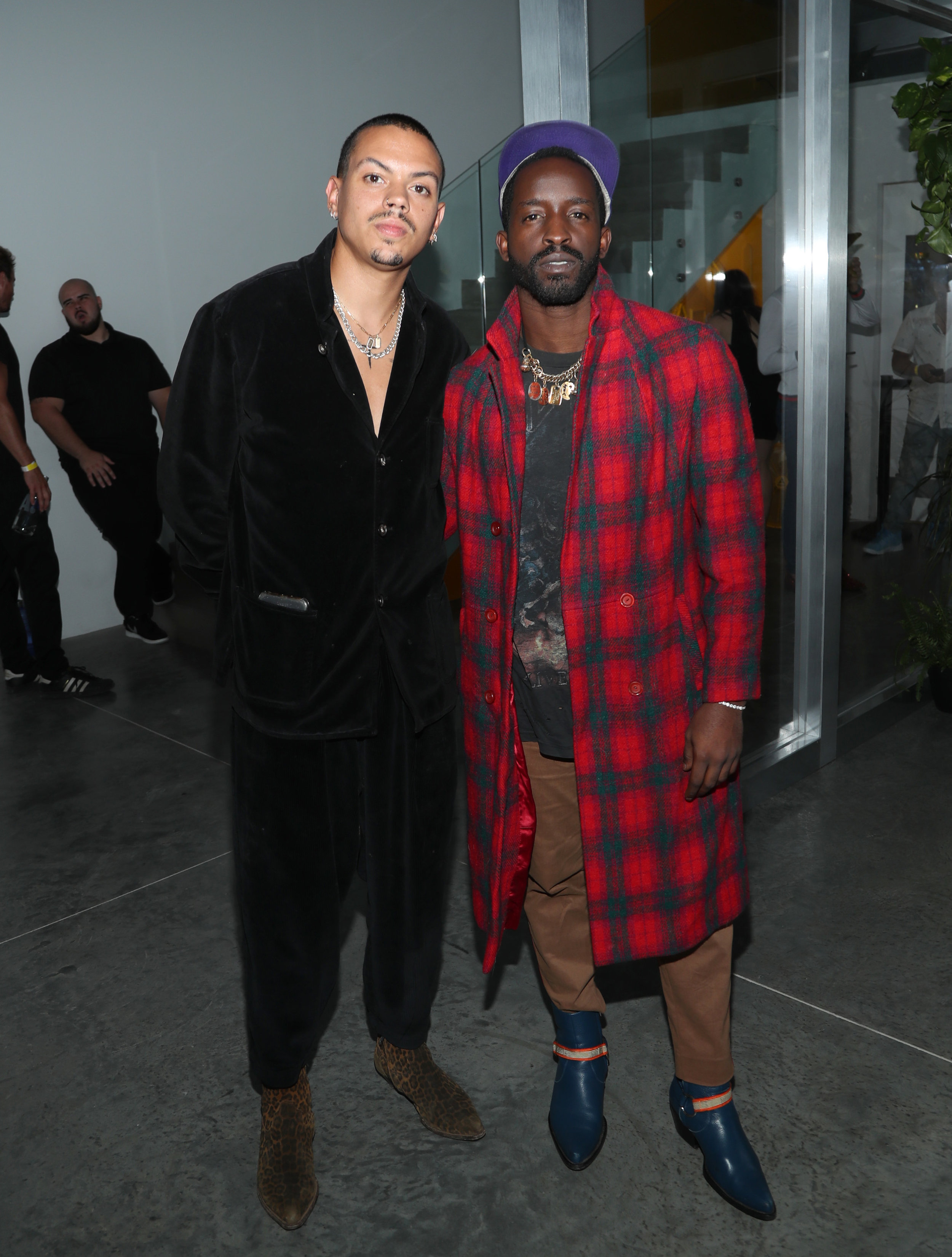 Evan Ross and Elijah Kelley attend the AIRGRAFT 'The Art Of Clean Vapor'  launch with Talent Resources on September 6, 2019 in Los Angeles, California