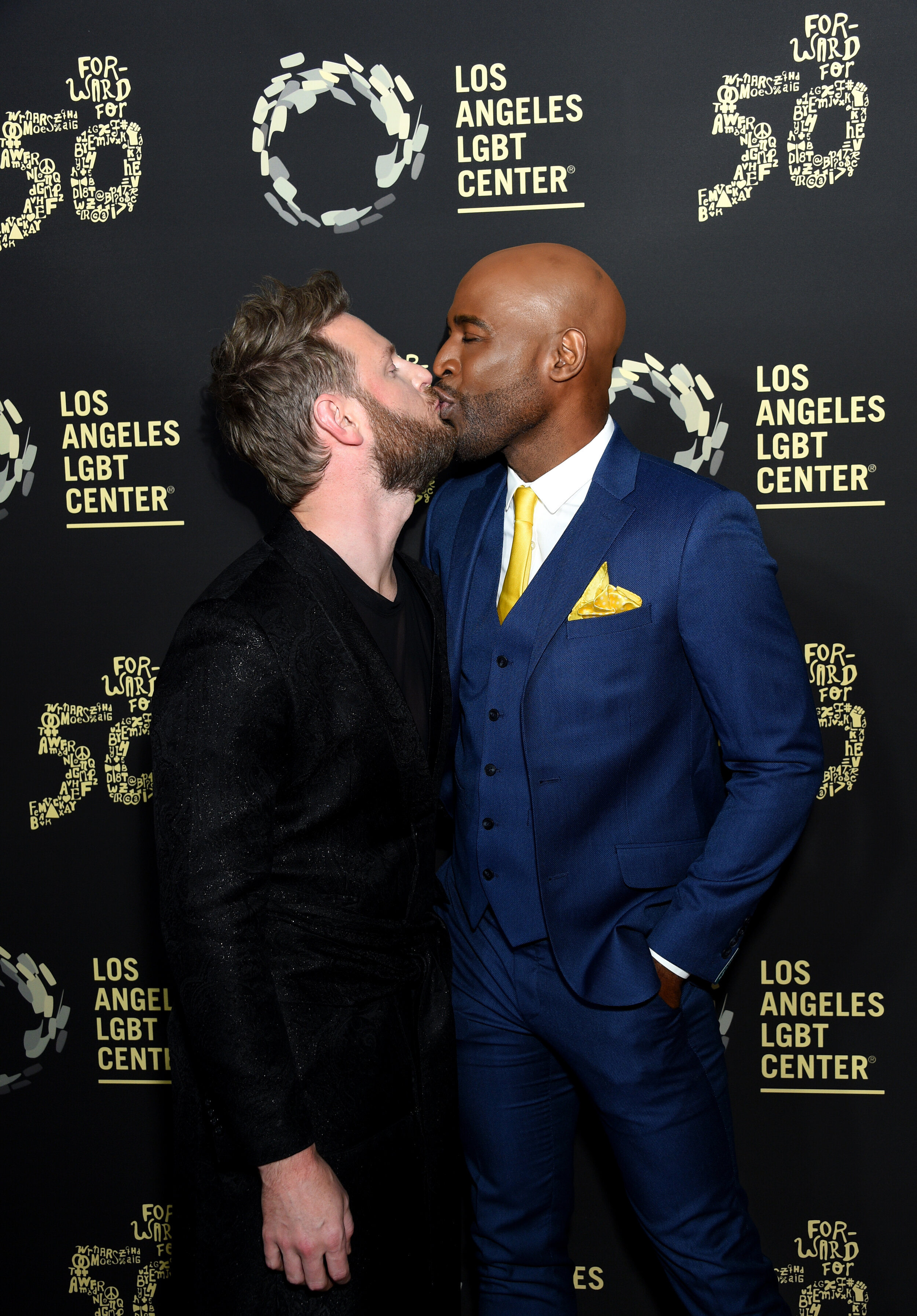 Bobby Berk and Karamo Brown attend Los Angeles LGBT Center Celebrates 50th Anniversary With Hearts Of Gold Concert & Multimedia Extravaganza (Photo by Gregg DeGuire_Getty Images).jpg