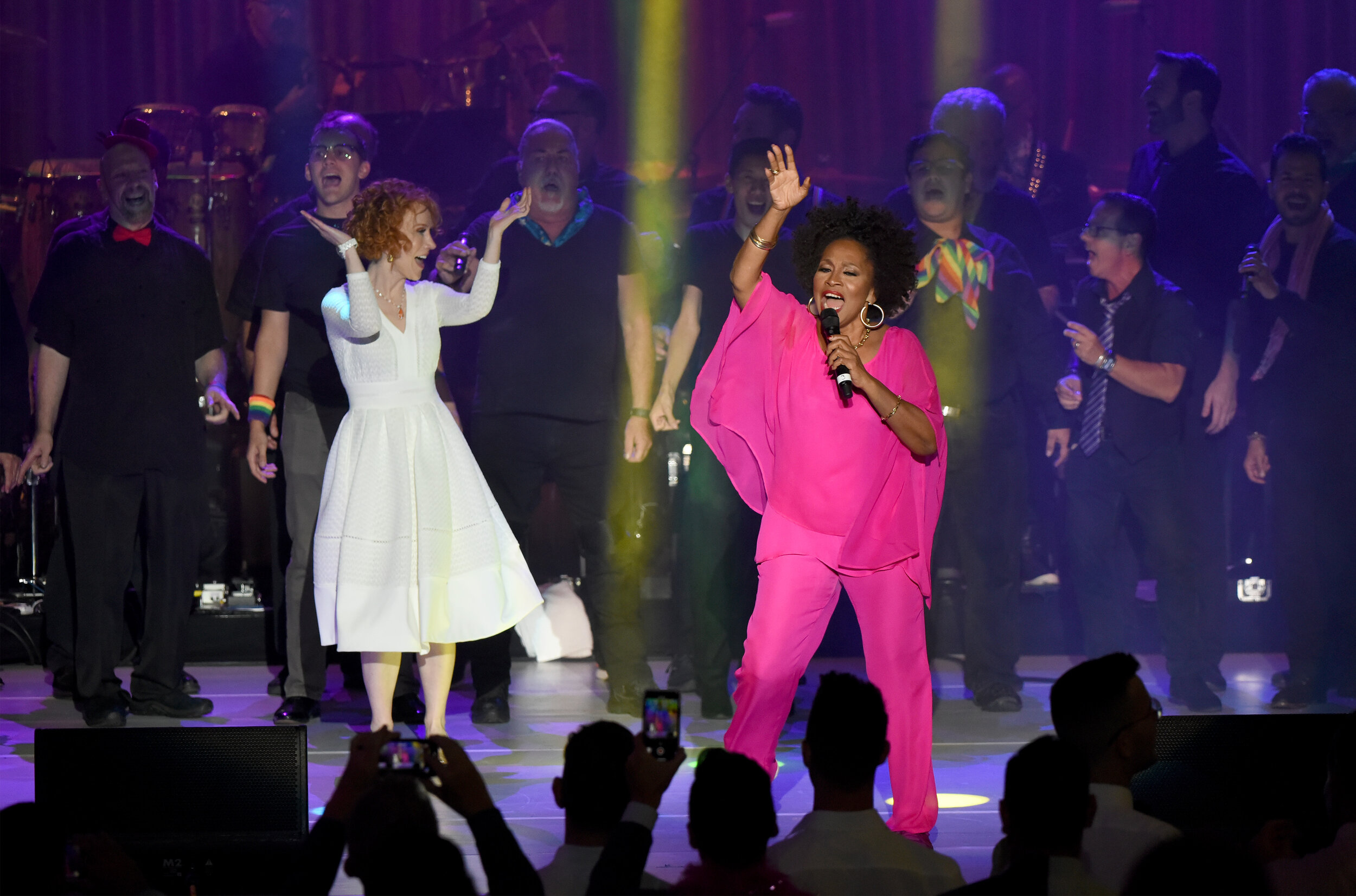 Kathy Griffin and Jenifer Lewis perform onstage (Photo by Presley Ann_Getty Images).jpg