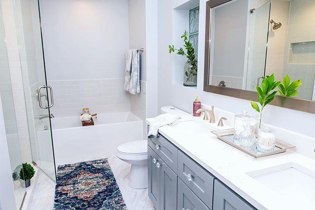 Reminiscing about this gem 💎 . . . #interiors #interiordecor #interiordecorating #homedecor #homedecorating  #rynewilsoninteriors #chicagointeriors #beforeandafter #bathroomremodel #bathroomrenovation #masterbathroom #underconstructionandremodeling #chicago #tgif