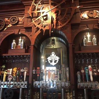 Norfolk, Virginia's Brick Anchor Brew Pub incorporates stunning steam punk design.