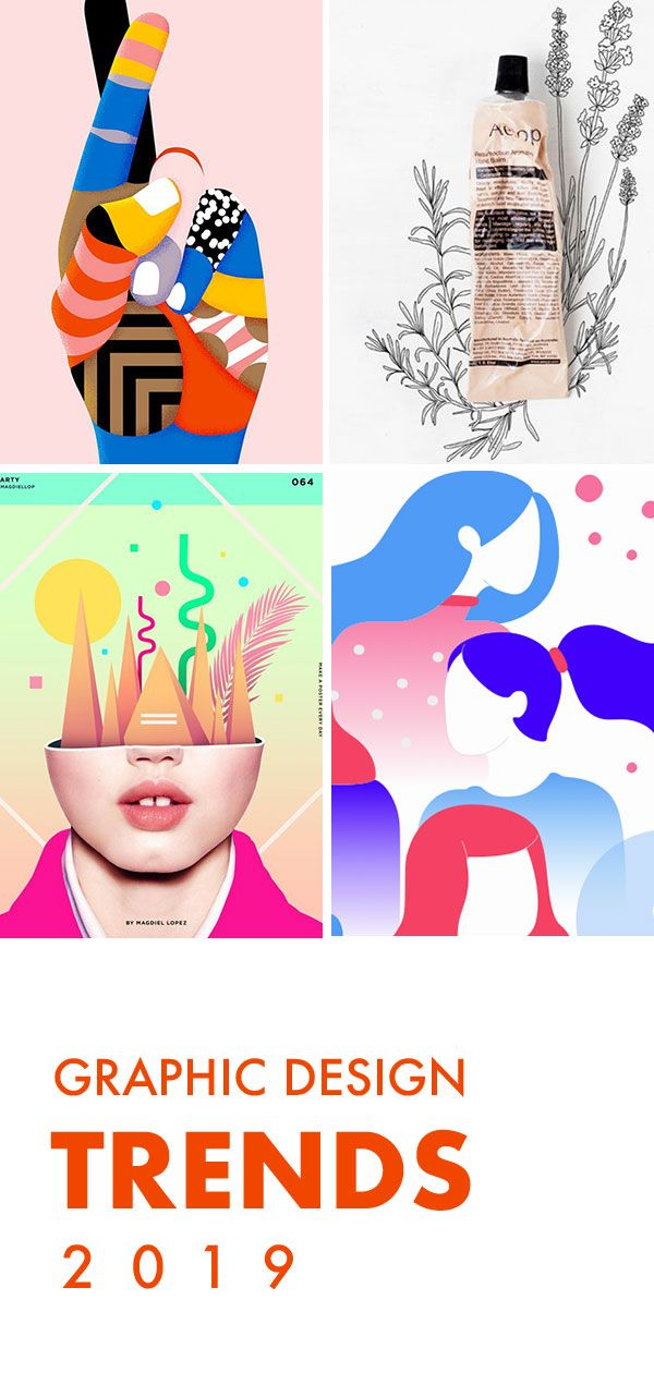 Graphic Design Trends - A selection of 2019 trends
