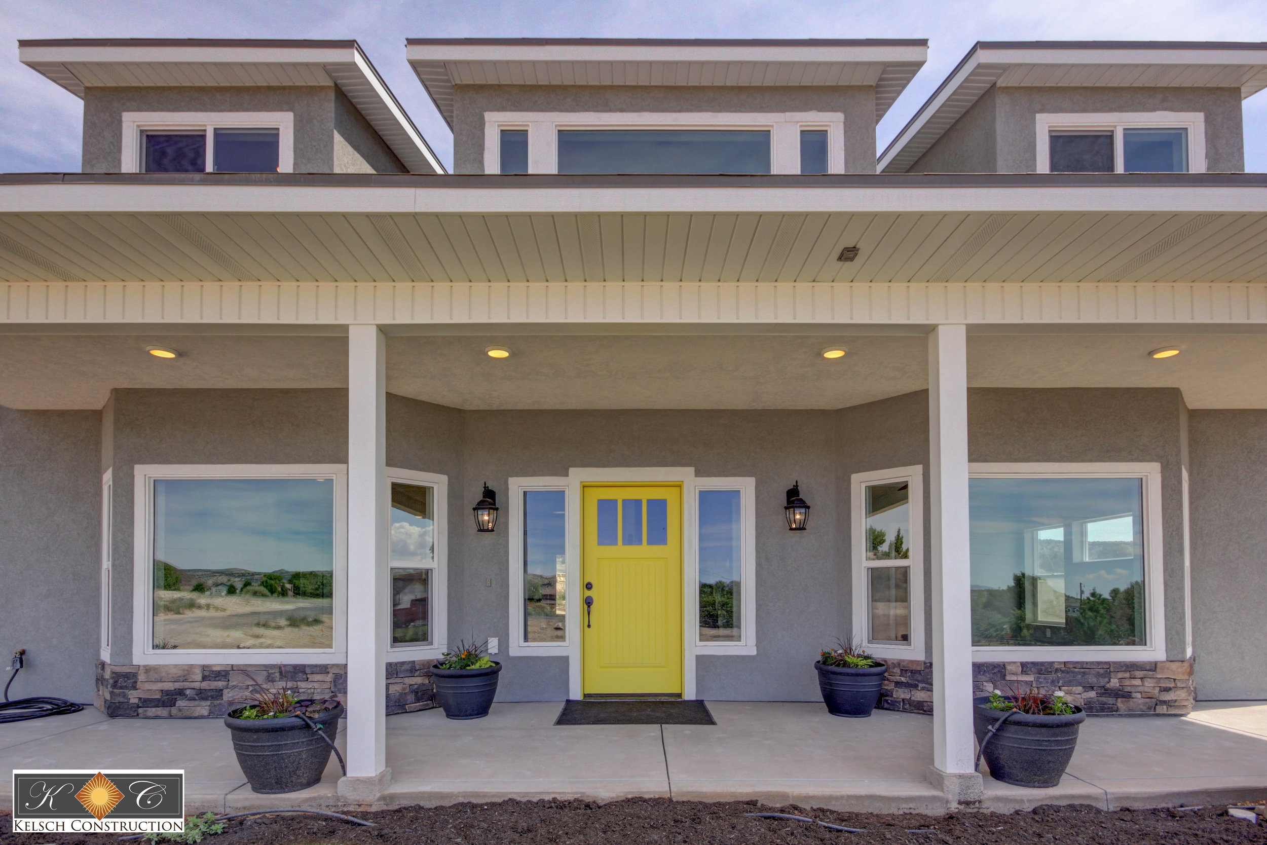 Front Image of Home with Yellow Door