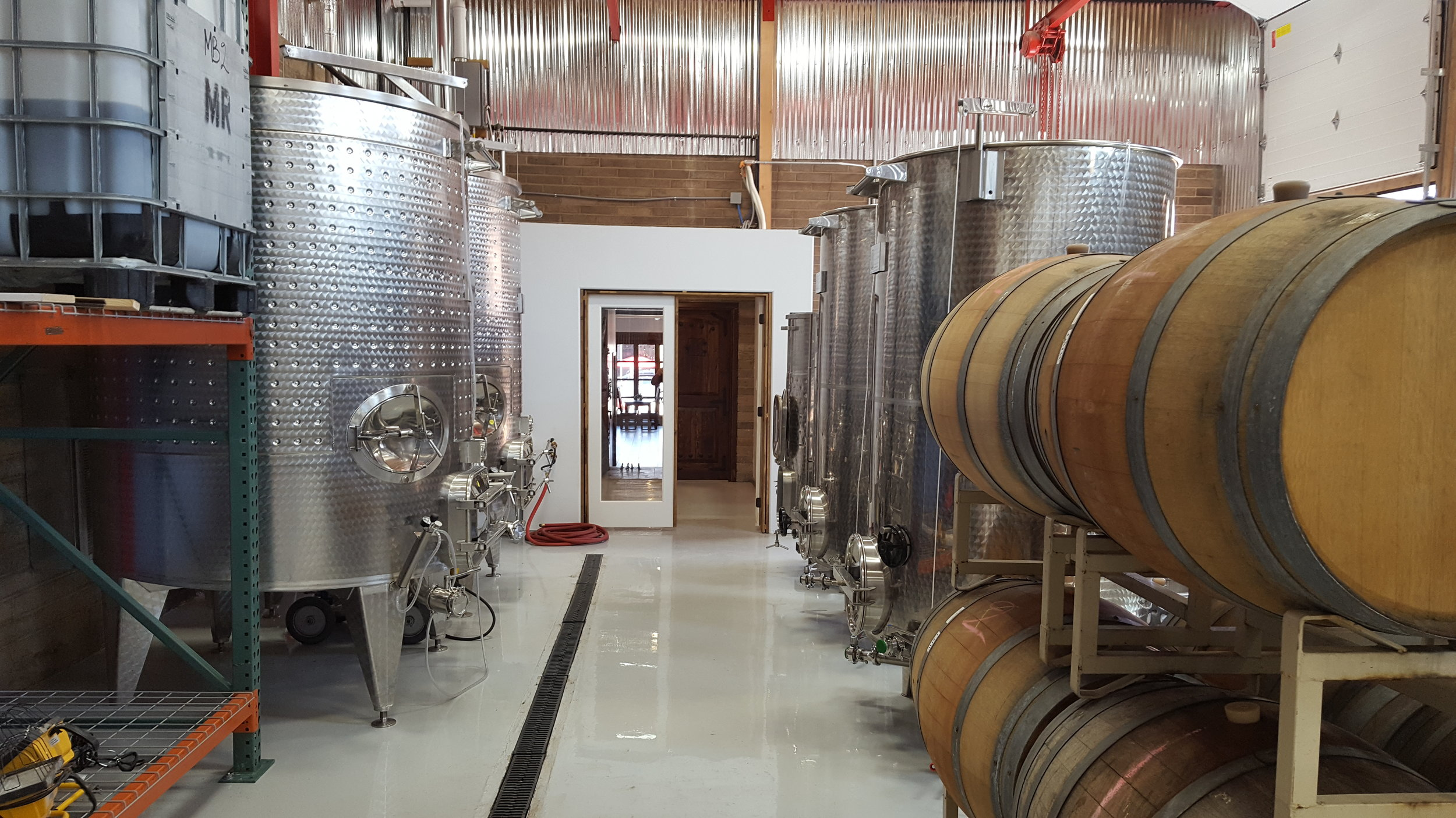Rear production area for IG Winery
