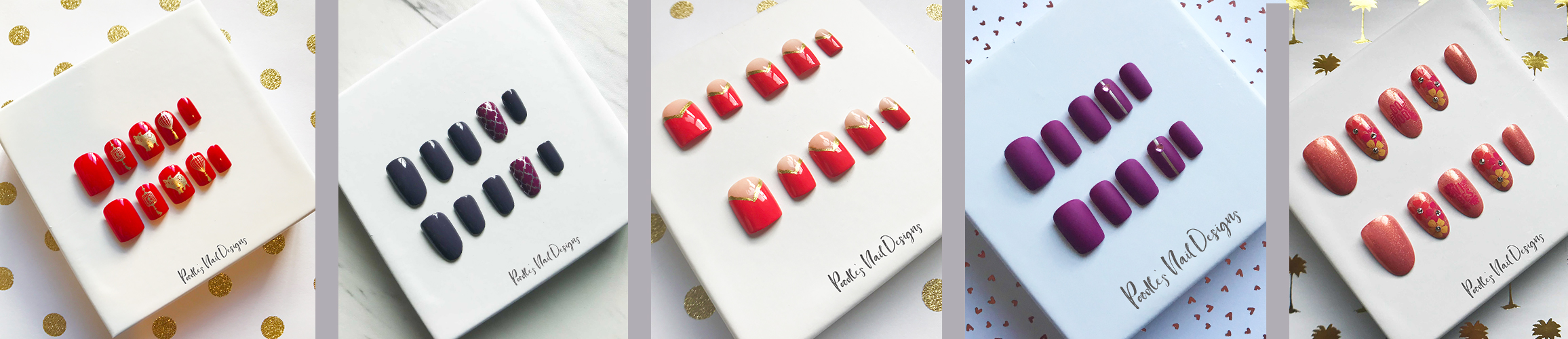 Press on Nails with Trendy Nail Art