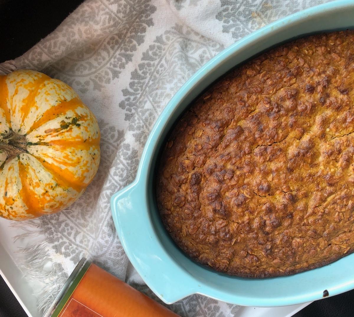 Pumpkin Pie Baked Oats - Gluten-Free, Vegan
