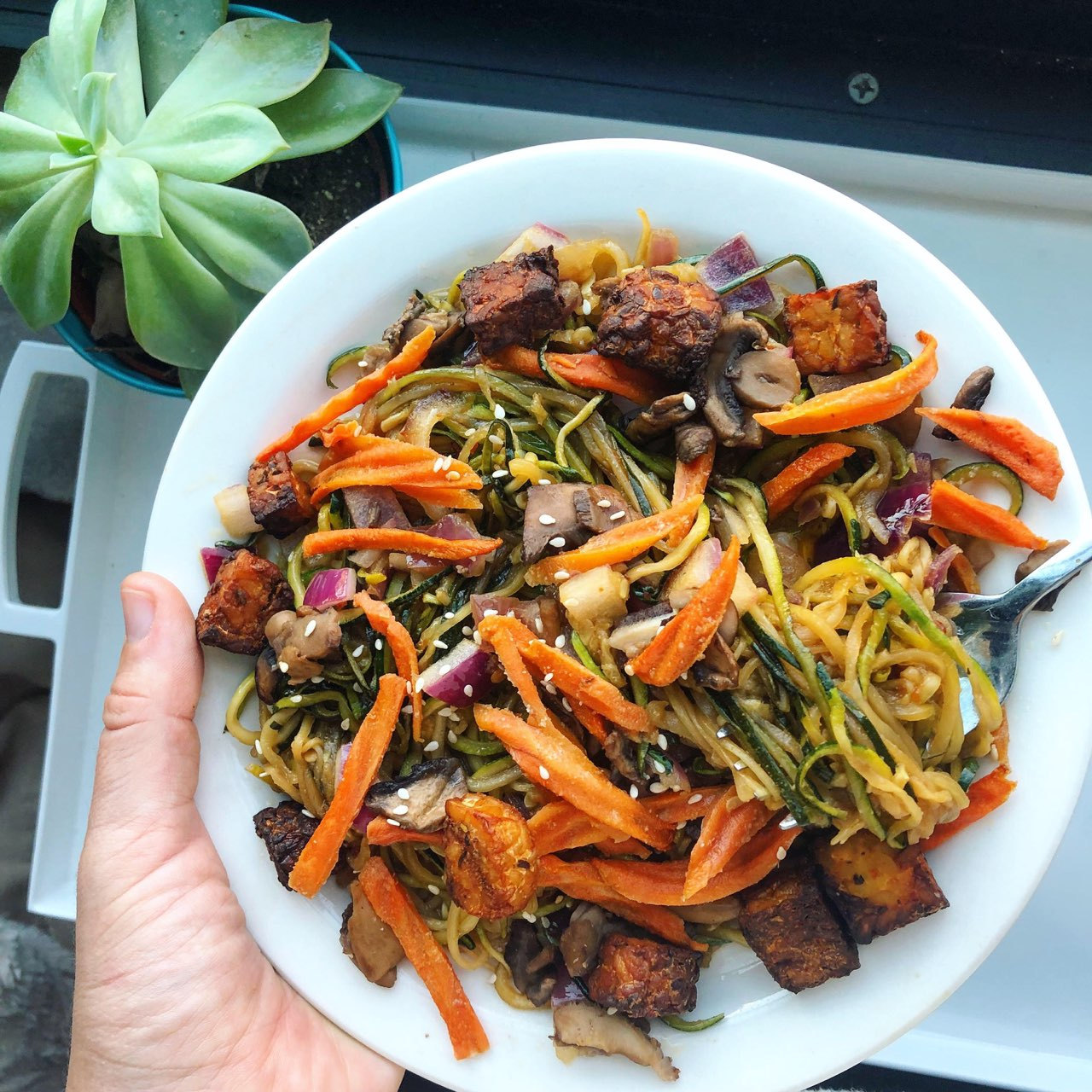 Grain-Free Sesame Street Noodles - Vegan, Gluten-Free, Paleo