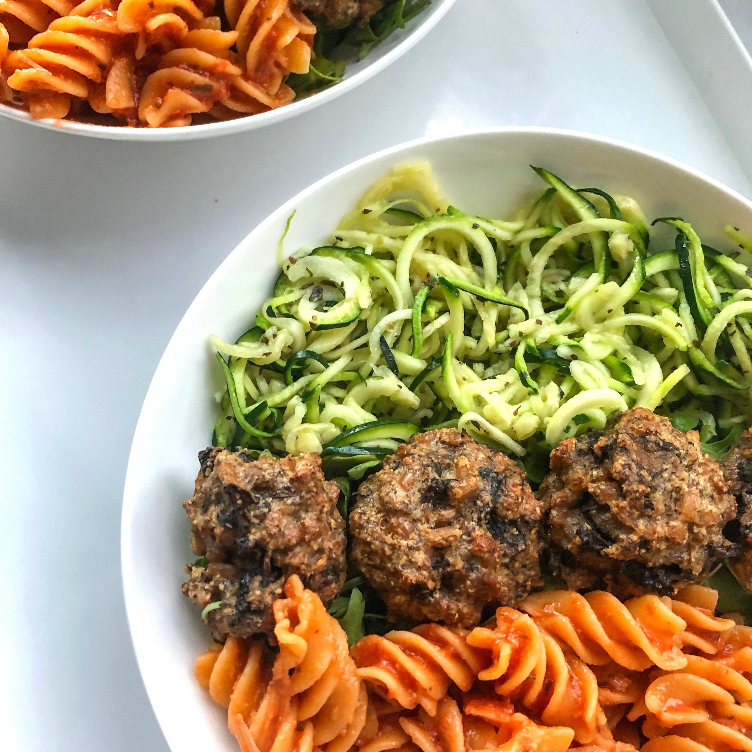 Portobello-Farro Meatballs - Vegetarian, Vegan (Optional), Meal-Prep