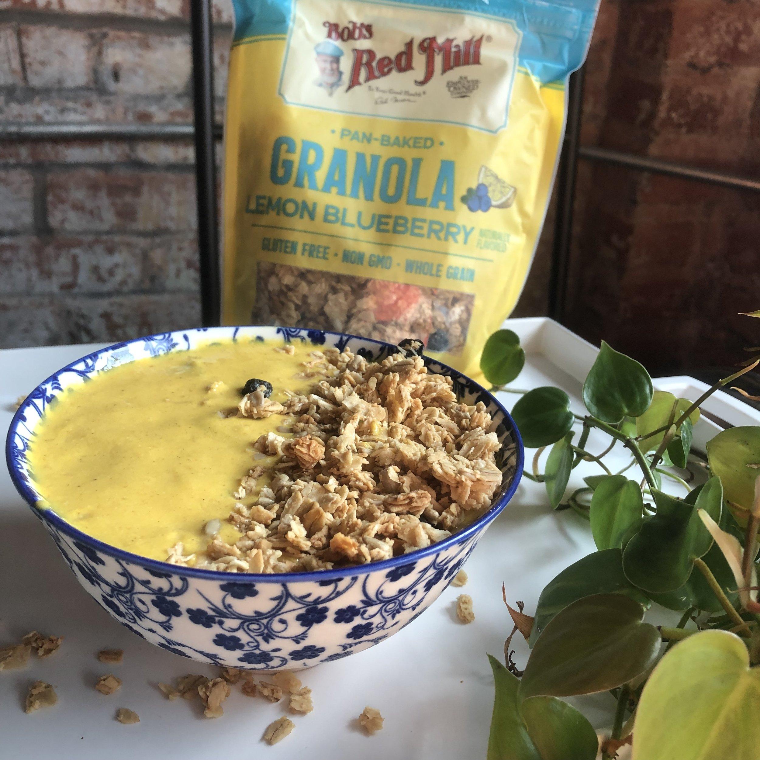 Mango-Turmeric Smoothie - Vegan (Optional), Dairy-Free, Gluten-Free, Easy Recipe