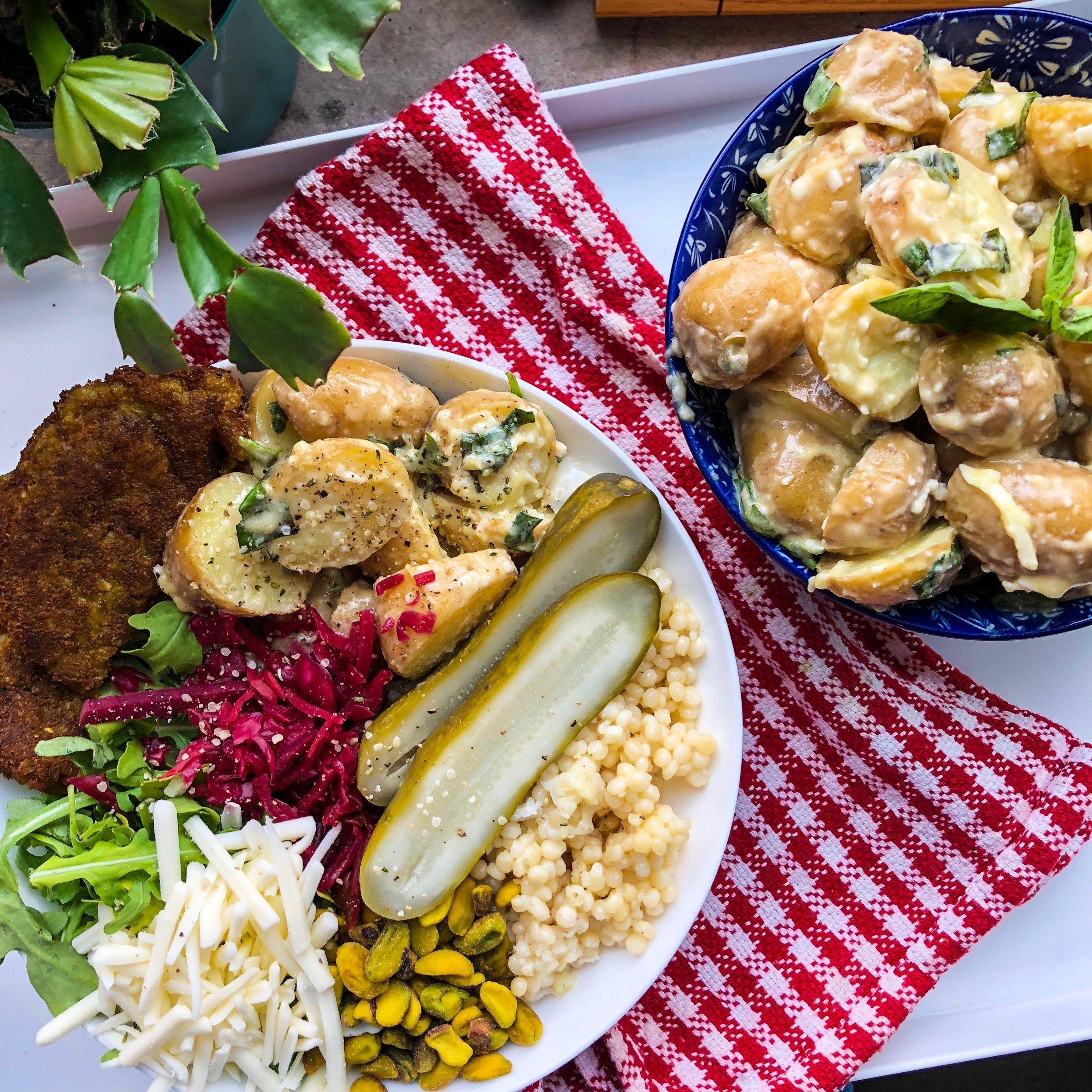 Vegan BasilPotato Salad - Vegan, Dairy-Free, Gluten-Free (optional)