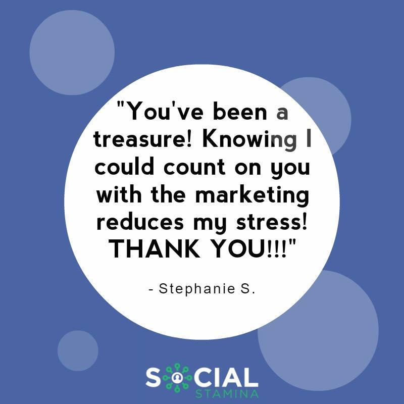 Social Stamina Thank You Helping Marketing