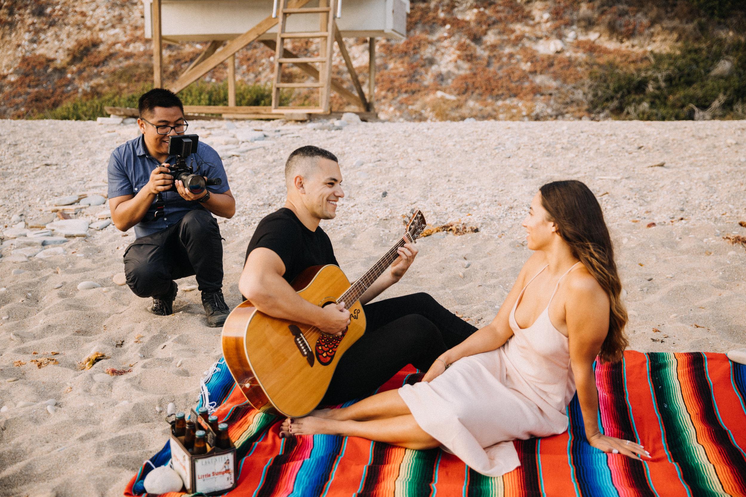 California Wedding Videographer - Beach BTS