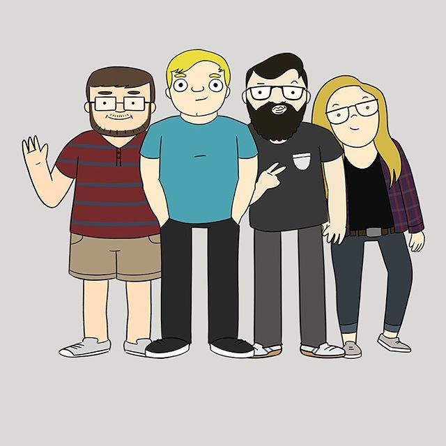 Just your favorite t shirt people dropping by hoping you have a great weekend! #tshirtlife #blinktees #tshirtprinting #printhustlers #graphicdesign #cartoon #customdesign #smallbusiness graphics made by the wonderful @winzweras