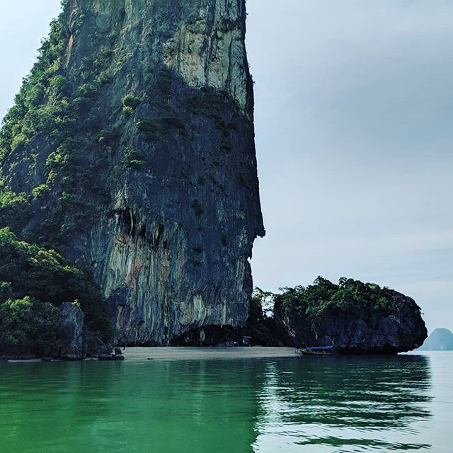A beautiful day visiting Khao Phing Kan (James Bond Island) with the even more beautiful @dallas_in_charlotte.