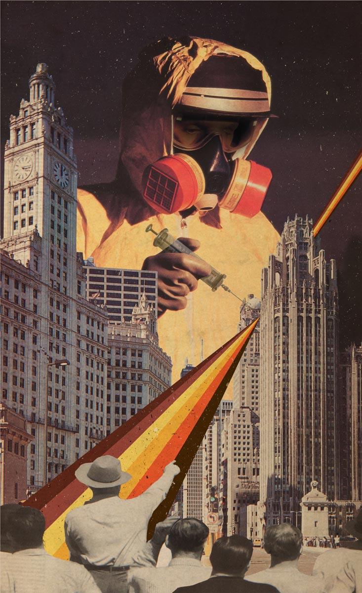Vaccination of Metropolis