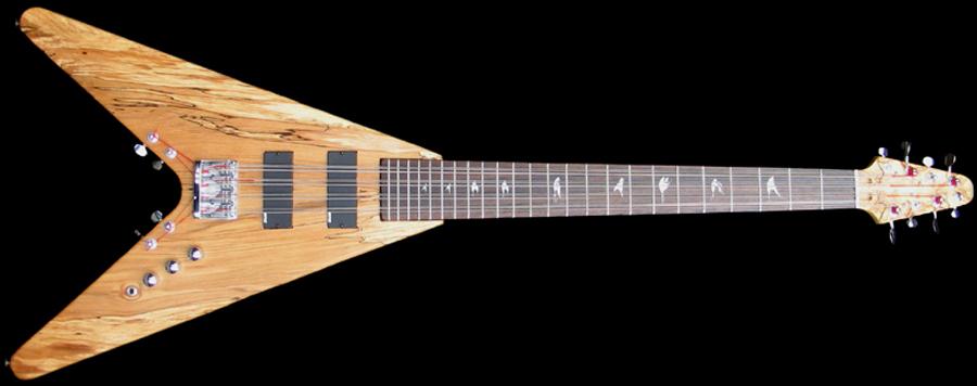 Chris Whiteley Custom Flying V 12-String Bass