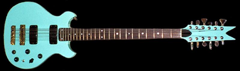 Custom 12-string bass built by Moze Guitars.