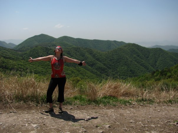 Hiking in the hills of South Korea