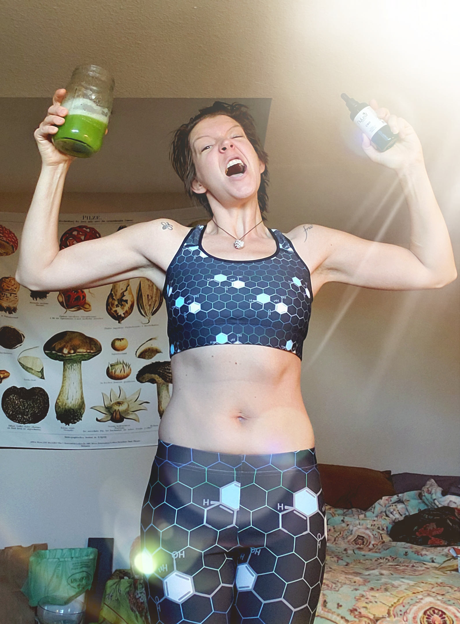CBD and Celery Juice… Popeye ain't got nothing on me!