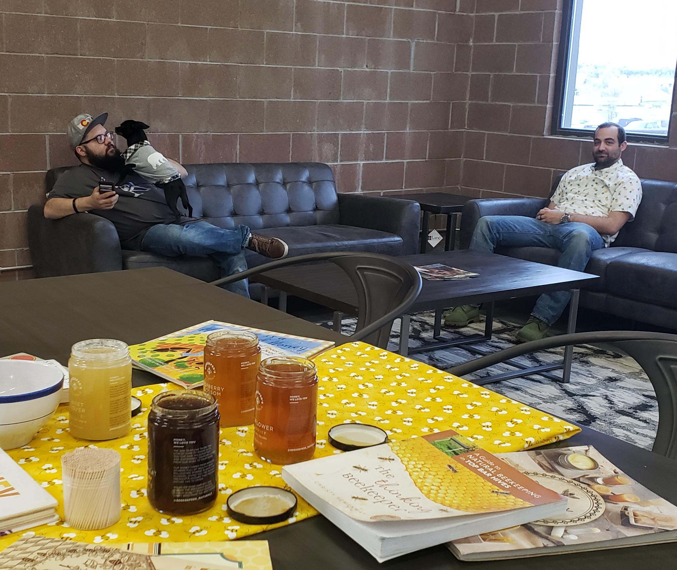 Honey happy coworkers