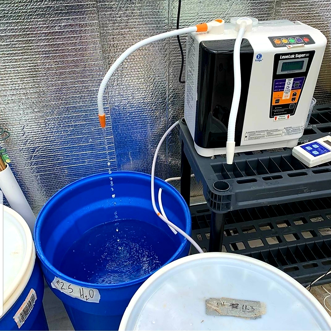 Enagic Super501 water machine set up for agriculture