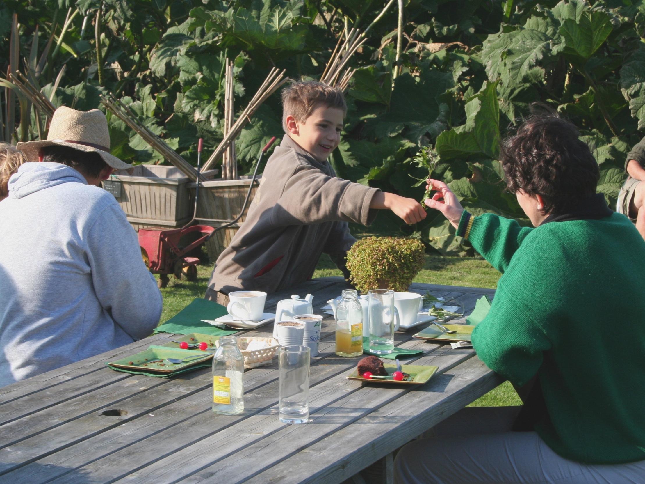 Salon de thé / Tea room - Le Comptoir du Jardinier propose une carte variée de thés et de produits locaux bio qui accompagneront la fameuse pâtisserie aux pommes