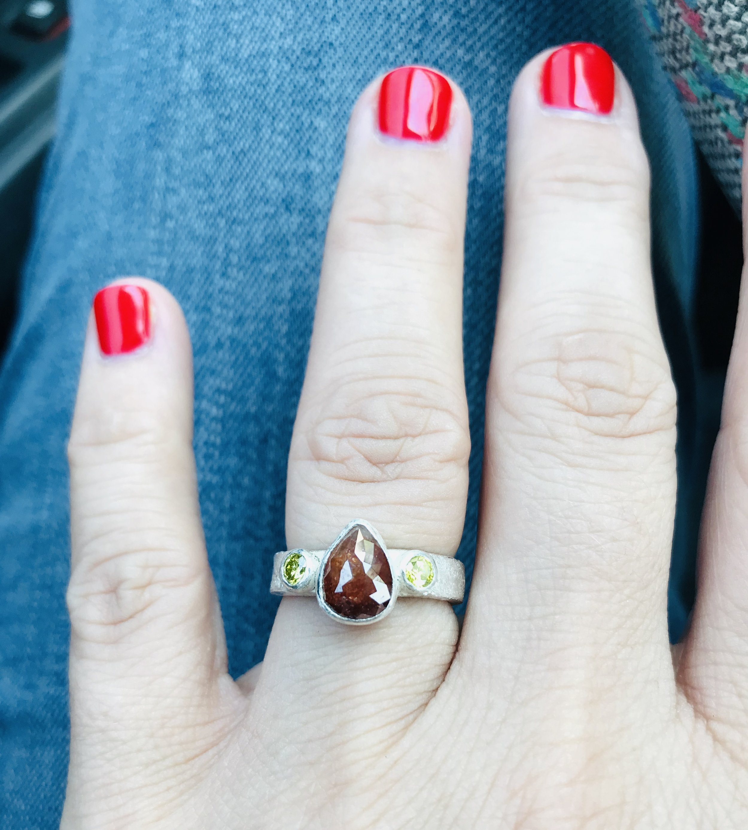 Engagement ring. Custom design by Lisa and Stephanie Jewelry