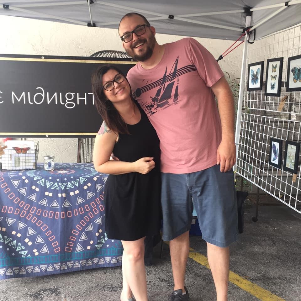 Teresa and Andrew - Vending Art at ARTPool Crafty Fest