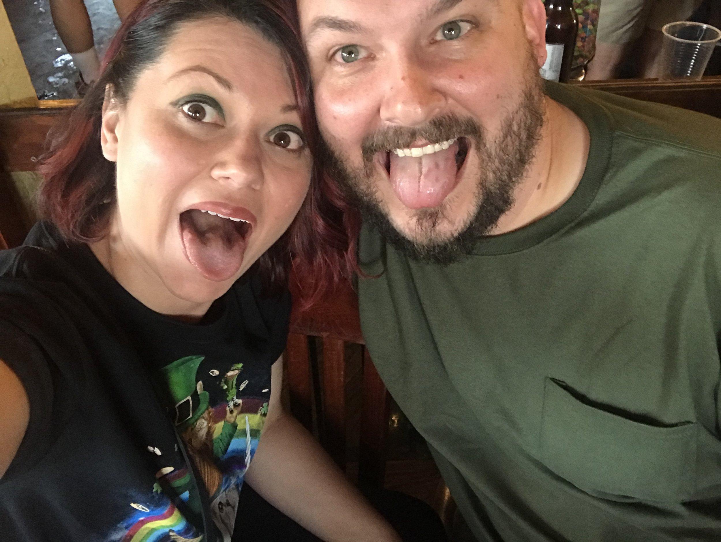 Teresa and Andrew, celebrating St.Patricks Day in Ybor City Florida