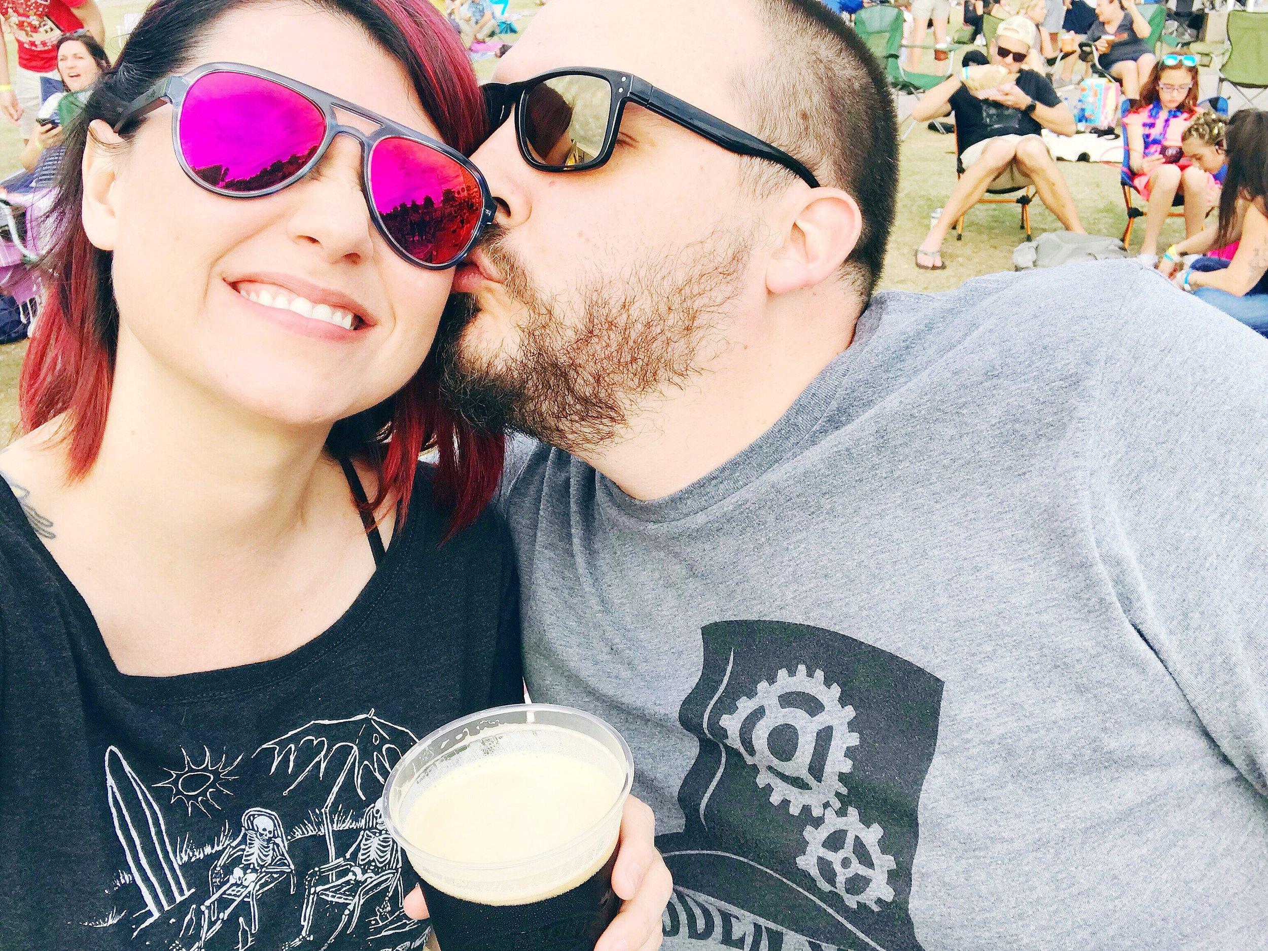 Selfie Mode - Teresa and Andrew at Gasparilla Music Fest