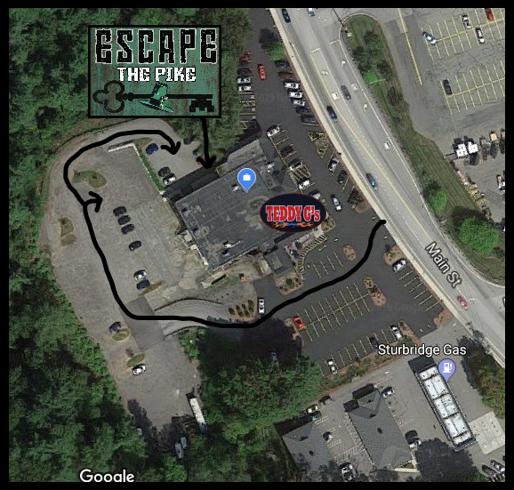 Escape the Pike Parking and Entrance