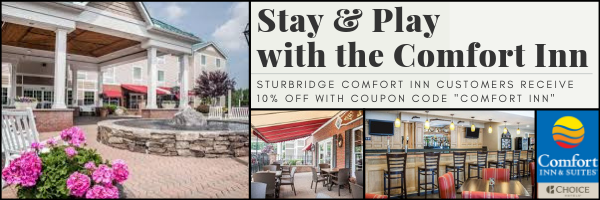 """Are you interested in staying overnight in Sturbridge? Customers of the Comfort Inn receive 10% off their Escape the Pike ticket price by entering the code """"COMFORT INN"""" when booking."""