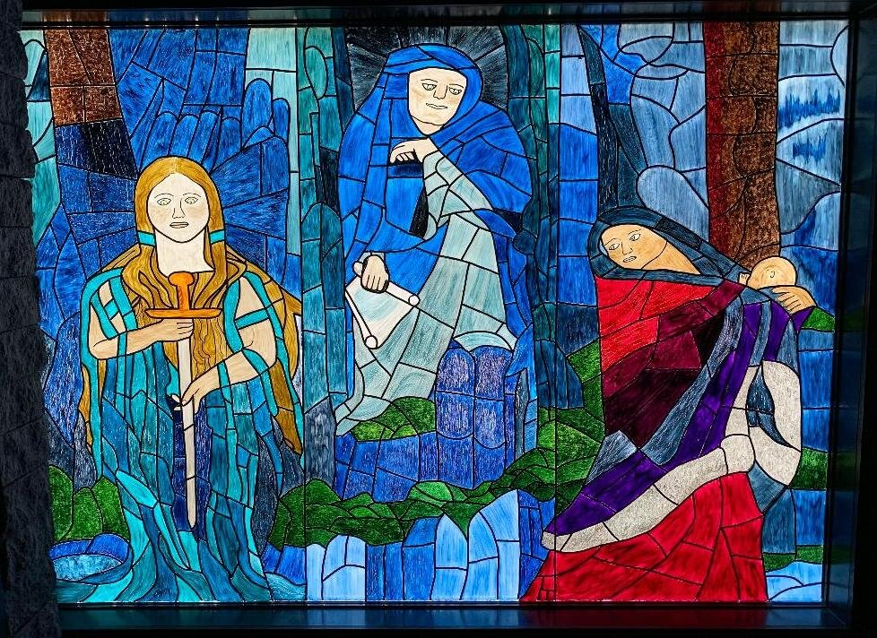 Merlin's Vision- Hand painted window