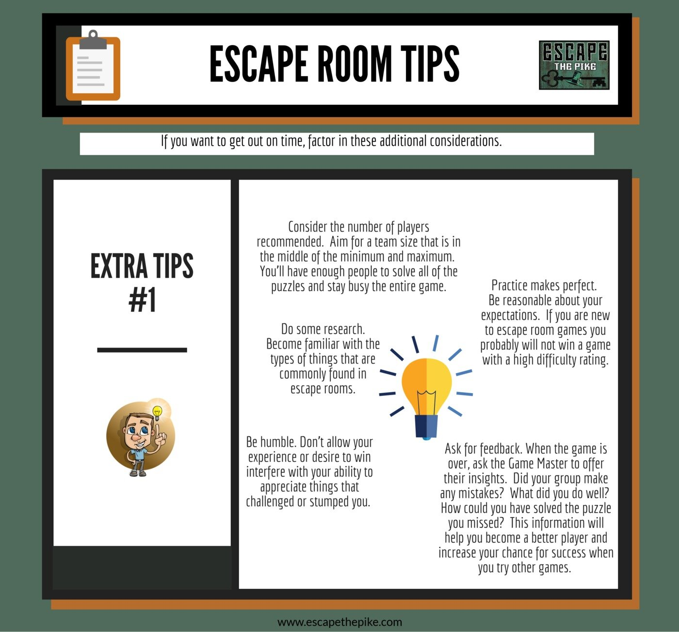 Tip #9- These are additional things to consider.