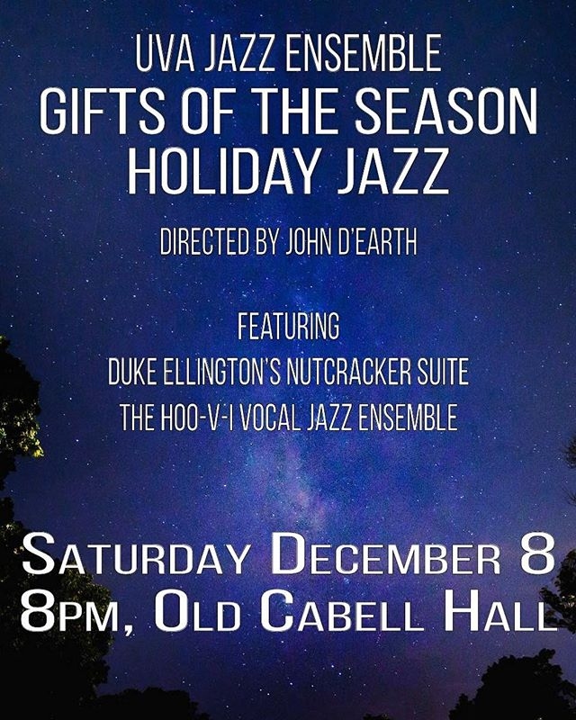 Need some holiday jazz in your life? Come to the jazz ensemble concert this Saturday! Tickets are $10 and $5 for students (free if students reserve 24 hours in advance!)