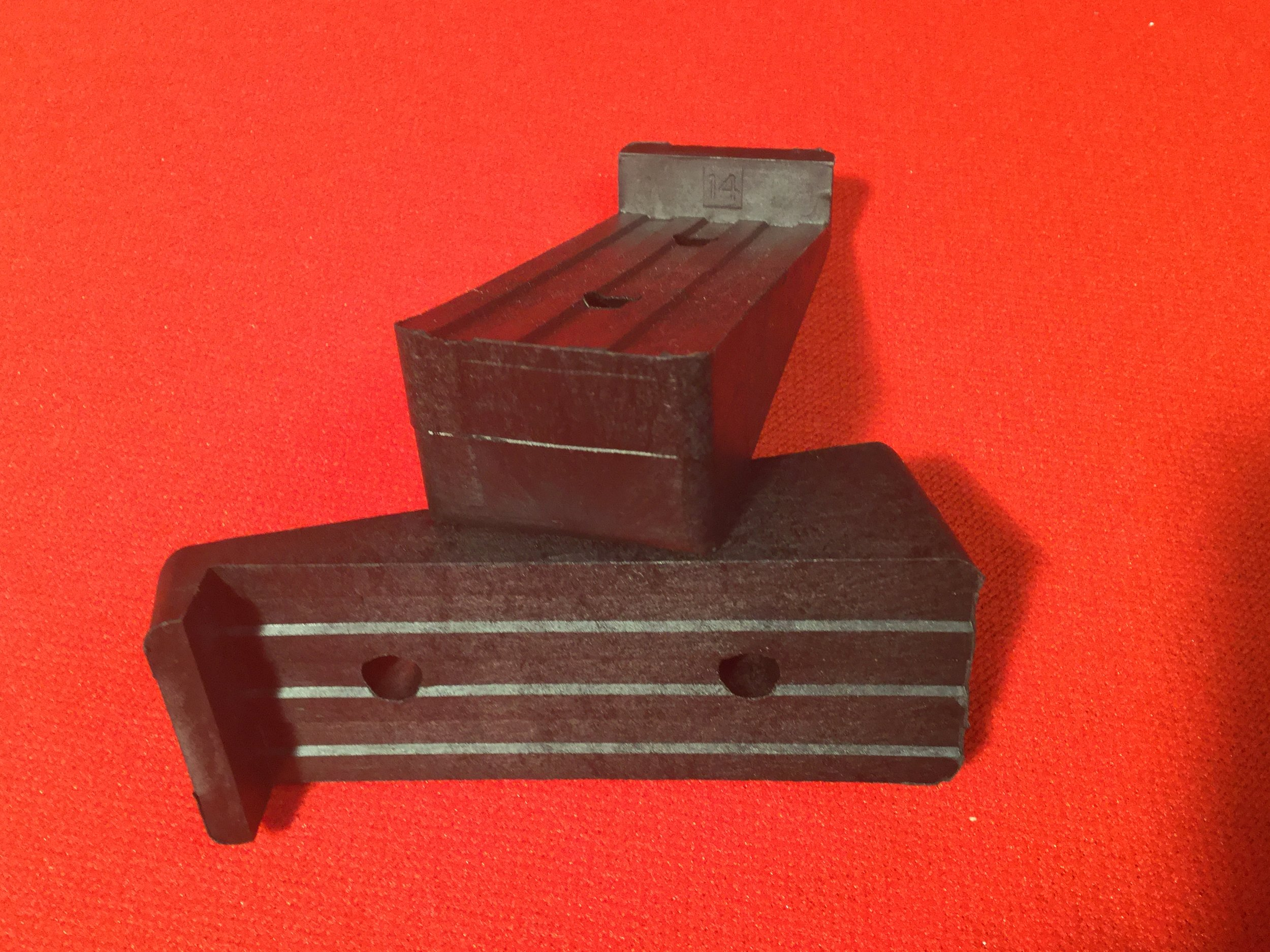 Pitch Blocks - Molded high strength, glass-reinforced composite. Grooved faces provide precision alignment with blade base. Color: Black. (Two identical blocks per blade). Separate blocks required for each setting. Block angles from 8 degrees to 18 degrees available in 1 degree increments.