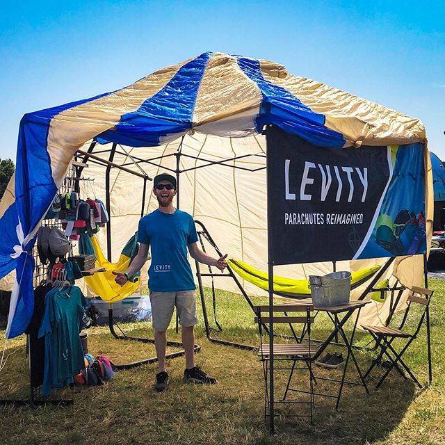 We've had a lot of people ask about when they can purchase some new Levity products and merch — Today is your one chance on Vendor Row at Carolinafest 2019 before we go back to fulfilling orders and stocking back up for Summerfest later this summer, so don't miss out!! Come hang out in the tent with us and enjoy some snacks and cold drinks as well! ⛺️🌞♻️🌀#hammockcamping #levitynylon #sustainability #carolinafest