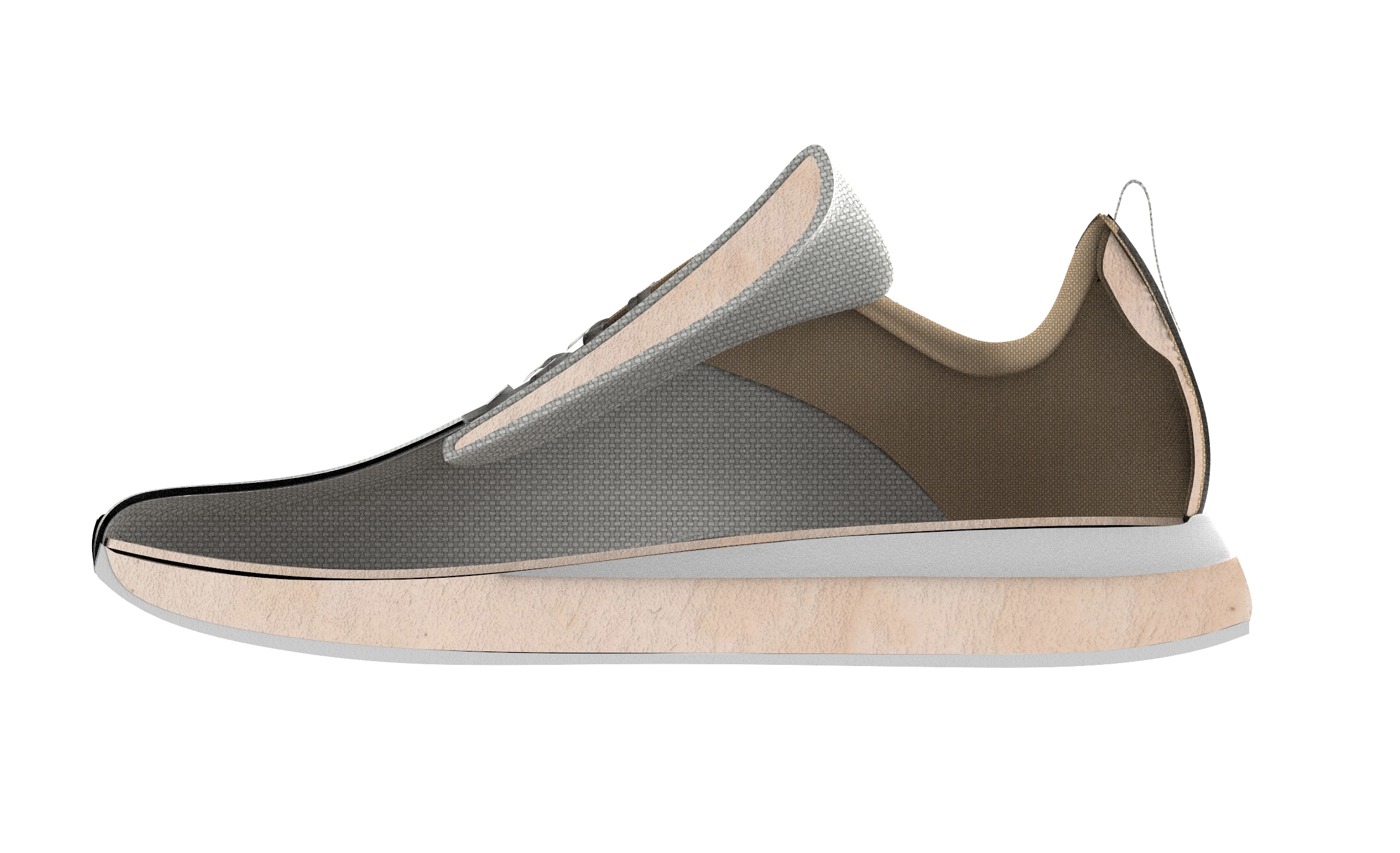 Support Padding - Mycelium foams offer a sustainable alternative to traditional support foams used in footwear which are plastic-based and do not degrade after the product's life cycle.