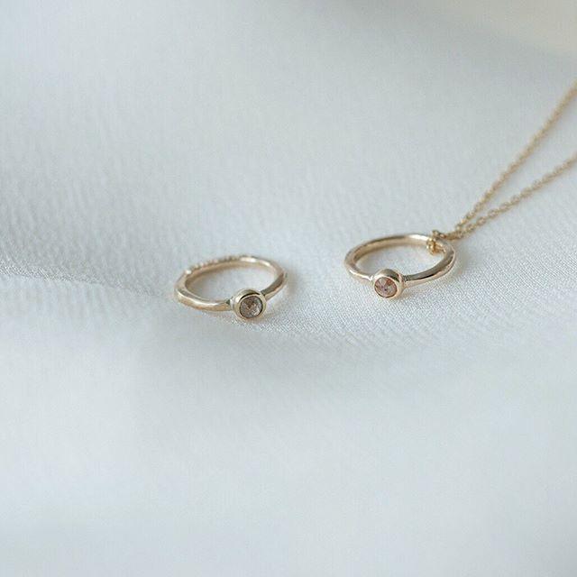 . ローズカットダイヤモンドを添えたベビーリング。 親から子へ。ファーストジュエリーとして。 . . . #jewelry#rosecutdiamond #wedding#atelierplow