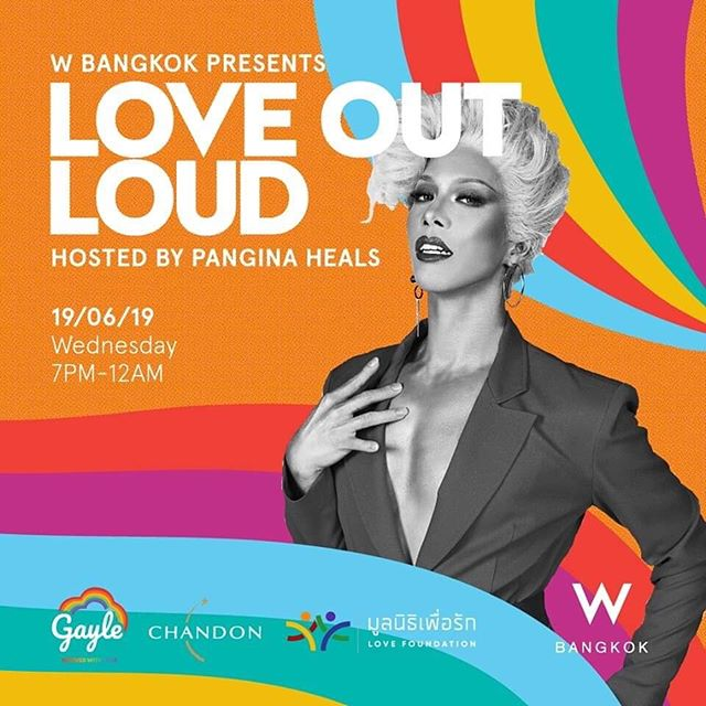 See you tonight at LOVE OUT LOUD and celebrate #PrideMonth with us ❤️🥂🏳️‍🌈 #wbangkok #dragracethailand #bangkoknightlife  #loveislove