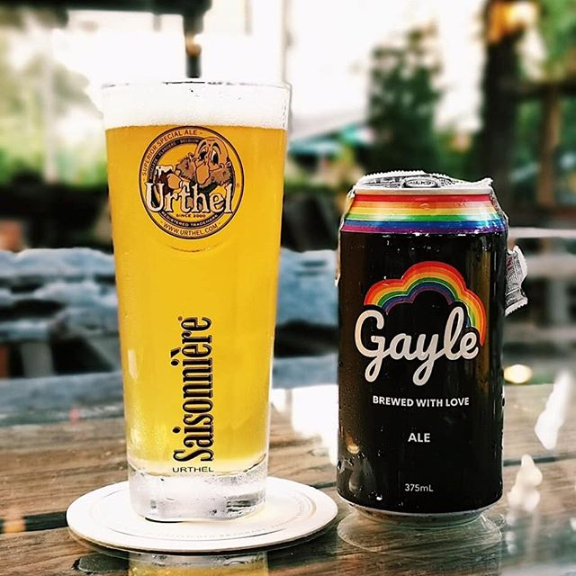 It's weekend - time to pop a can of Gayle 🍻🏳️🌈 #cheerstolove #thaicraftbeer #brewedwithlove