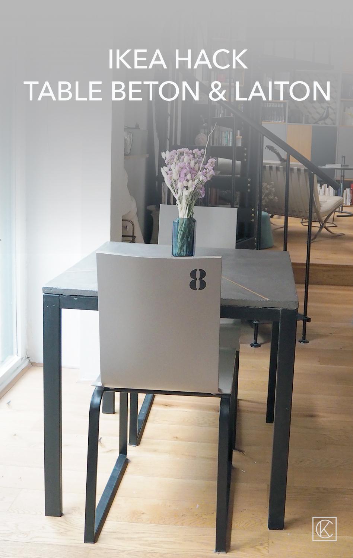Ikea Hack Une Table Beton Laiton Kraft Carat