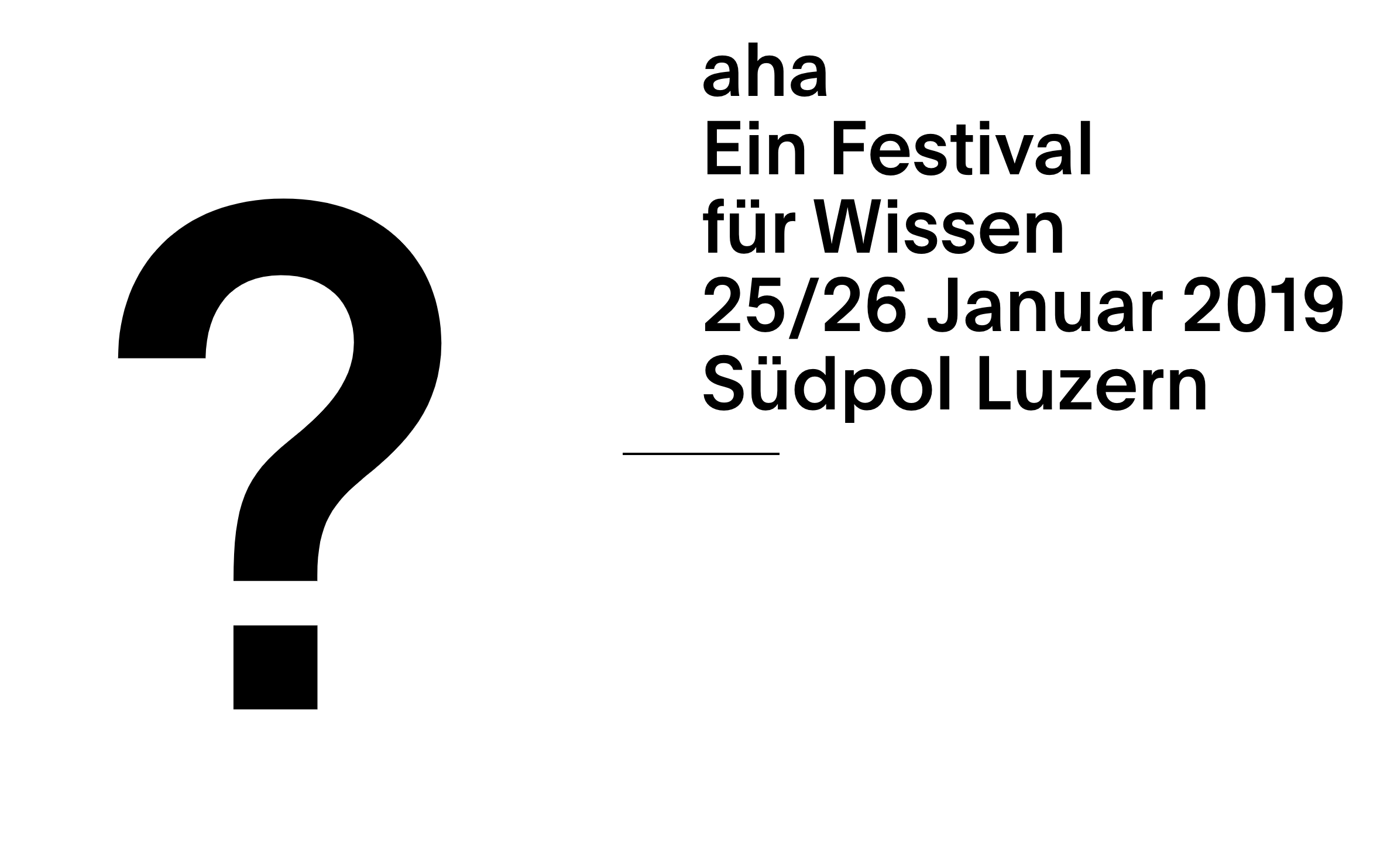 AHA Festival - A festival to convey research and knowledge aimed at curious minds.